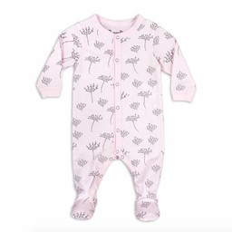Coccoli Coccoli - Pyjama à Pattes en Jersey Modal/Modal Jersey Footie, Floral Rose/Pink Floral