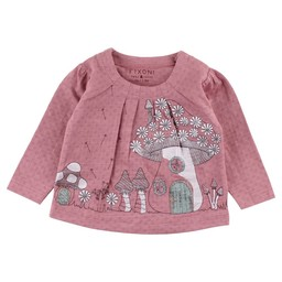 Fixoni Fixoni - Chandail Manches LonguesHush/Hush Long Sleeves T-Shirt, Rose Nostalgie/Nostalgia Rose