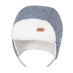 Broel Broel - Tuque Elmo/Elmo Hat, Bleu Chiné/Heather Blue