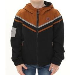 L&P L&P - Manteau D'extérieur Doublé/Lined Outwear Jacket, Noir et Caramel/Black and Caramel