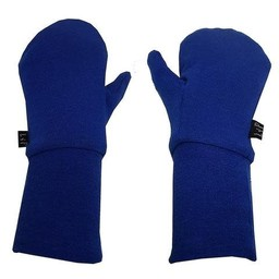 L&P L&P - Mitaines en Coton Mi-Saison/Mid-Season Cotton Mitts, Bleu Royal/Royal Blue