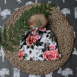 Little & Lively Little & Lively - Tuque à Pompon/Pompom Beanie, Antique Floral
