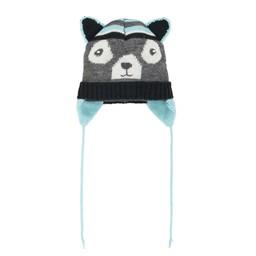 deux par deux Deux par Deux - Tuque à Oreilles/Earflap Winter Hat, Boys Enchanted Forest