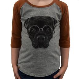 L&P L&P - Chandail à Manches 3/4 Baseball/Baseball T-Shirt 3/4 Sleeve, Chien/Dog