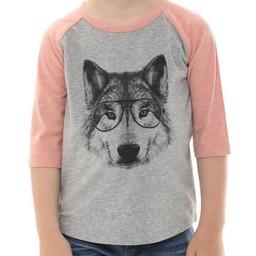 L&P L&P - Chandail à Manches 3/4 Baseball/Baseball T-Shirt 3/4 Sleeve, Loup/Wolf