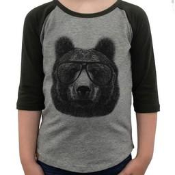 L&P L&P - Chandail à Manches 3/4 Baseball/Baseball T-Shirt 3/4 Sleeve, Ours/Bear