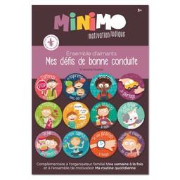 Minimo Minimo - Ensemble D'aimants Mes Défis de Bonne Conduite/Magnet Set my Challenges of Good Behavior
