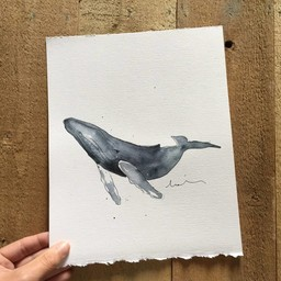 Léolia Art et Illustrations Léolia - Aquarelle/Watercolor, Baleine/Whale
