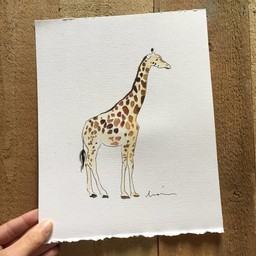 Léolia Art et Illustrations Léolia - Aquarelle/Watercolor, Girafe/Giraffe