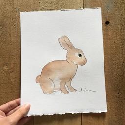 Léolia Art et Illustrations Léolia - Aquarelle/Watercolor, Lièvre/Hare