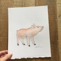 Léolia Art et Illustrations Léolia - Aquarelle/Watercolor, Bébé Cochon/Baby Pig