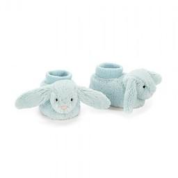 Jellycat Jellycat - Botillon Lapin Bashful Bleu/Bashful Blue Bunny Booties, Nouveau-Né/Newborn