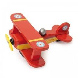 Le Toy Van Le Toy Van - Avion Biplane/Skyflyer, Rouge/Red