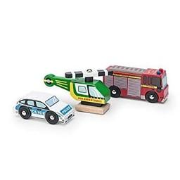 Le Toy Van Le Toy Van - Véhicules d'Urgence/Emergency Vehicles Set
