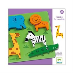 Djeco Djeco - Casse-Tête en Bois/Wooden Puzzle, Incrocodible