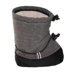 Sherpa Sherpa - Mouflons Bébé Chic-Chocs/Chic-Chocs Baby Booties, Tweed Gris/Grey Tweed