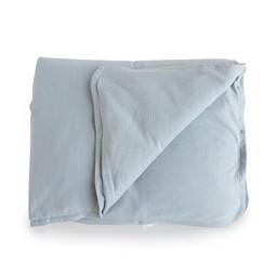 Bouton Jaune Bouton Jaune - Housse de Couette pour Lit de Bébé en Coton Organique/Organic Cotton Crib Duvet Cover, Bleu Vintage/Vintage Blue