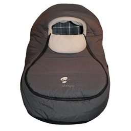 Sherpa Sherpa - Enveloppe pour Coquille Wigwam/Wigwam Baby Car Shell, Gris-Sable/Grey-Sand