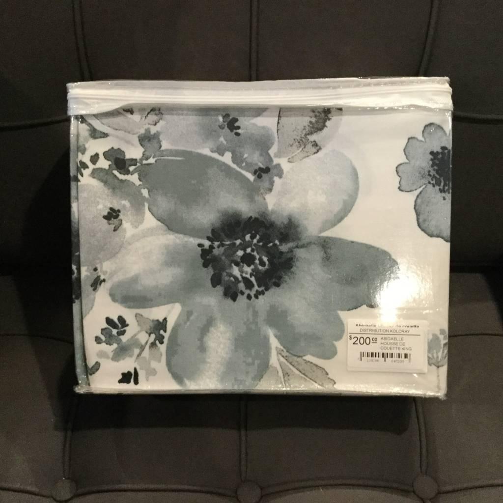 Housse De Couette Fleurie Bleue Abigaelle Distribution Koloray