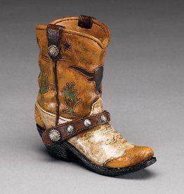 Western Express Boot Pencil Holder Brn/Cactus Small