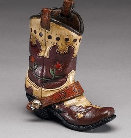 WEX Boot Pencil Holder Brn/Flower Small