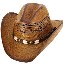 WEX Brockway Straw Western Hat Brown