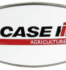 Western Express Case IH Logo Belt Buckle White Enamel