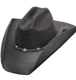 Western Express Cattleman Straw Hat Black Ass't