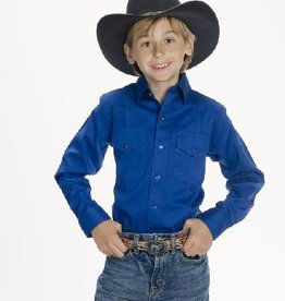 Western Express Children's Western Shirt - Royal Blue