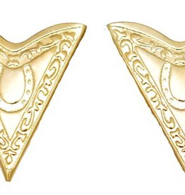 Western Express Collar Tips - Gold