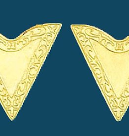 Western Express Collar Tips - Gold 1-1/4