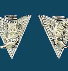Western Express Collar Tips - Silver Boots