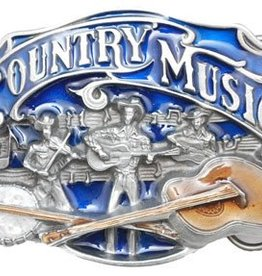 Western Express Country Music Belt Buckle