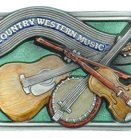 Western Express Country Western Music Belt Buck