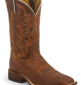 Justin Western Men's Justin Distressed Cognac Bent Rail Boots