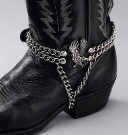 WEX Eagle on Side Boot Chain Black
