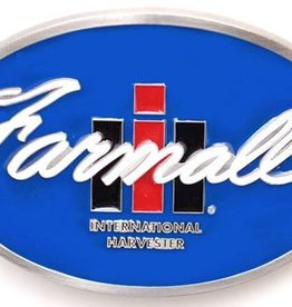 "Western Express Farmall IH Belt Buckle SS 3"" x 2-1/4"