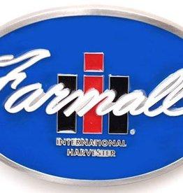 "WEX Farmall IH Belt Buckle SS 3"" x 2-1/4"