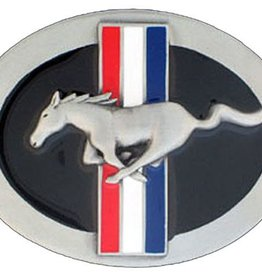 Western Express Ford Mustang Buckle Pony Enamel 3.25 x 2.5