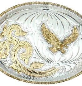 WEX German Silver Eagle Belt Buckle Silver