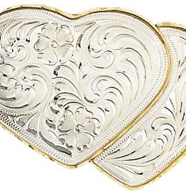 WEX Heart Belt Buckle german slvr Hearts