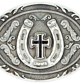 WEX Horseshoe & Cross Buckle blk