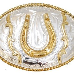 "WEX Horseshoe Belt Buckle  3"" x 2"""