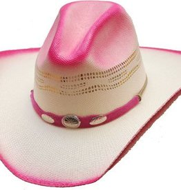 Western Express Children's Hot Pink Silver Concho Hat