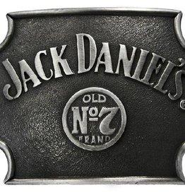 Western Express Jack Daniels No.7 Belt Buckle Cut Corners Silver