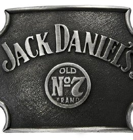 WEX Jack Daniels No.7 Belt Buckle Cut Corners Silver