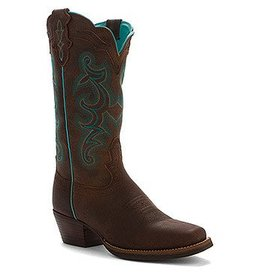 Justin Boots Women's Justin Chocolate Buffalo Silver Collection Boots