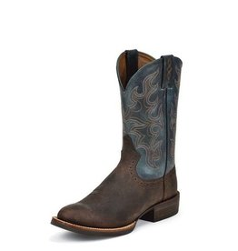 Justin Boots Men's Justin Burnished Chocolate Puma Buffalo - Reg. $179.95 @ 28% OFF!