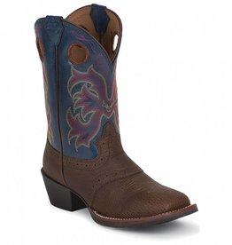 Justin Boots Children's Justin Dark Brown Cowhide Stampede Boots - $79.95 @ 20% Off!!