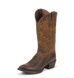 Justin Boots Men's Justin Rugged Tan Cowhide Western Boots - 11EE